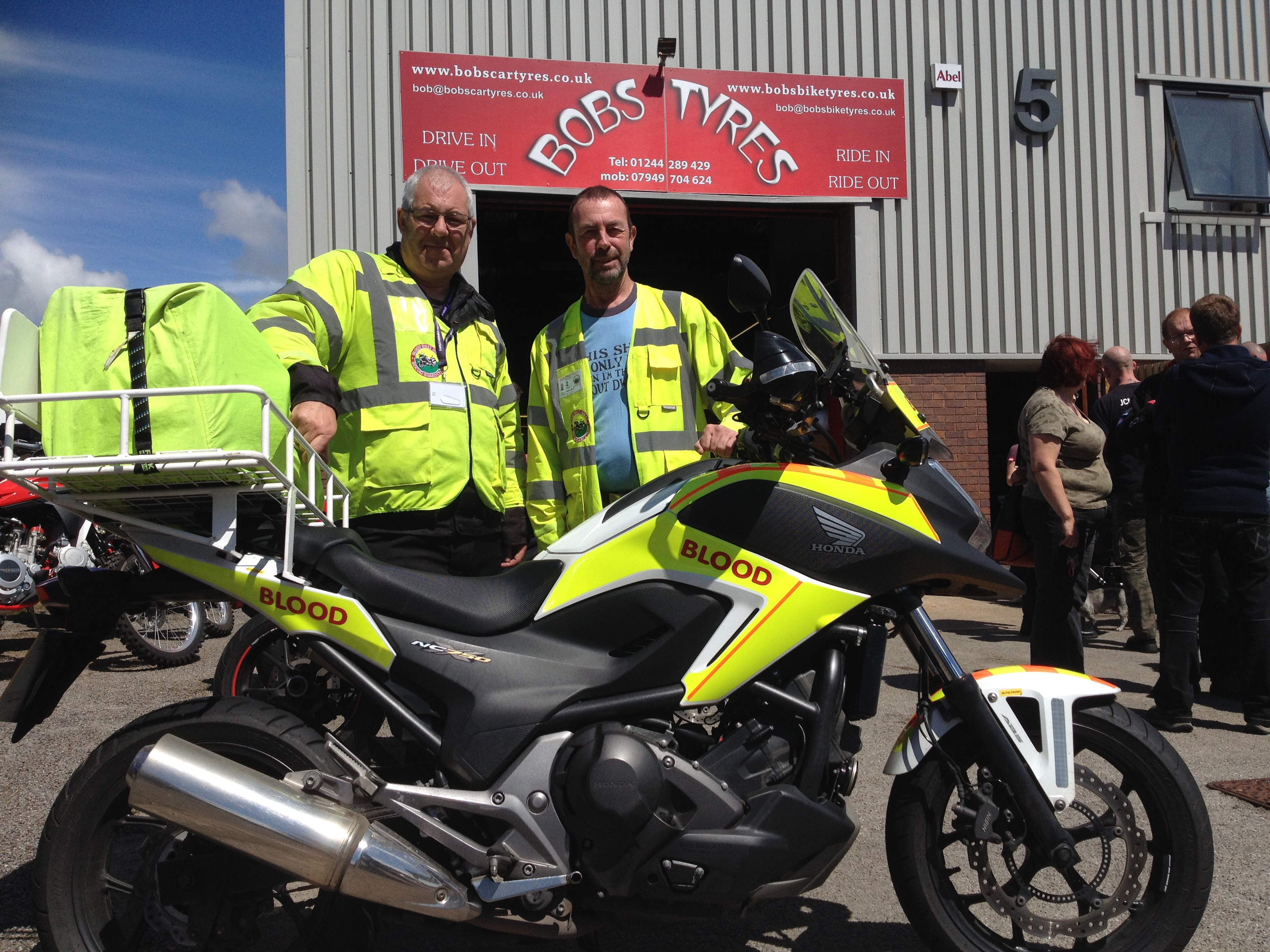 Blood Bikes Wales at Bobs Bike Tyres, Open Day July 2017